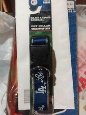 "New  MLB Los Angeles Dodgers LA Nylon Adjustable Dog Collar L Large 1""x 18-26"""