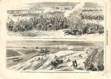 Construction Suez Canal Lake Timsah Ismailia EGYPT GRAVURE ANTIQUE PRINT 1869