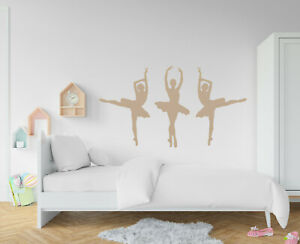 Set of 3 Ballet Dancer / Ballerina Wall Stickers - Several Colours and Sizes MID