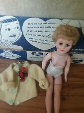 Large Oversize Doll LuAnn Teen Age Doll Blonde Short Hair 1950 with Box Vintage