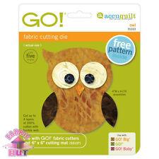 55333- Accuquilt GO!, Baby, & Big Owl Fabric Cutter Quilt Block Applique Cutting