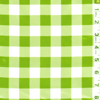 Green Check Oilcloth, Fabric By The Yard