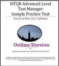 ISTQB Advanced Level – Test Manager Full Length Online Practice Test