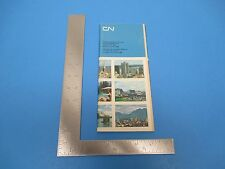 Vintage 1969 CN Canadian National Railways Time Tables S1023
