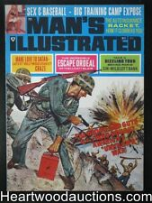 """Man's Illustrated"" May 1968 Sex and Baseball,Devil Worship,WWII Cover - High Gr"
