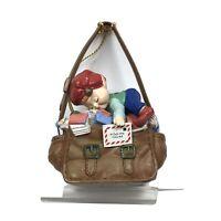 Elf Asleep In Santa's Mail Bag Christmas Tree Ornament Lustre Fame 1992