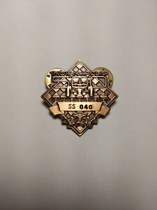 1993 Indianapolis 500 SS040 Chevy Camaro 77th Indy Pit Badge in Bronze
