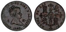 2 Copper Maravedis / Cuivre Isabella II - Isabel II 1849. Ségovie VF / MBC