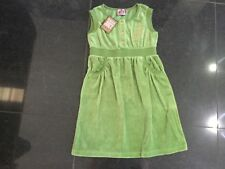 NWT Juicy Couture Girls Age 8 Green Sleeveless Velour Dress With Gold Logo