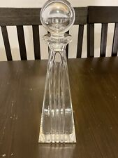 Tiffany And Co. Metropolis Crystal Decanter With Stopper. Made In Italy.