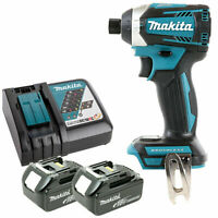 Makita DTD154Z 18V Brushless Impact Driver With 2 x 5.0Ah Batteries & Charger