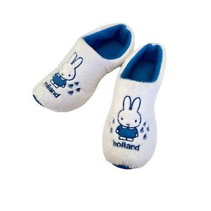 Miffy Holland Clog Slippers Adult Size UK 13- 3 US 1- 4 Anti Slip Delft Blue