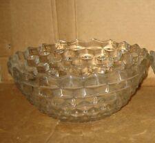Vintage Large Fostori American Diamond Pattern Bowl