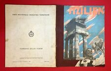 Brochure di viaggio 1939 Sicilia Italia (f13442