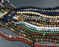 Wholesale Natural Gemstone Beads Round Loose Stone Bead For Jewelry Making 6mm