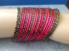 Indian Ethnic Traditional Set of 23 Glass Bangles L=6cm