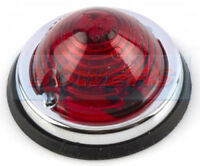 CLASSIC CAR CARAVAN MOTORHOME 70mm ROUND DOMED RED REAR TAIL MARKER LAMP LIGHT