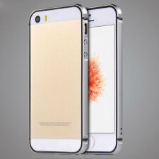 For iPhone 5 5s Gray Shockproof Metal Aluminum Rubber Bumper Frame Case
