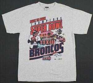 Denver Broncos Vintage Back To Back Super Bowl Champions T-Shirt Large