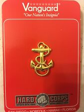 Us Navy Fouled Anchor Midshipman Cap Device Badge Pin Screwback Usn Usna 1 1/8""