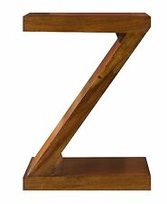 Cube Petite Solid Indian Rosewood Z Shaped Display Unit / Quirky Table