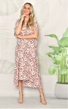 NWT Dress Kaftan Leopard Pink Floral Plus Sizes to fit 10 to 22 New Collection