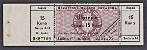 CROATIA  15 Kune ND1941  FINANCIAL WATCH - JUKSTA  - WWII  NDH USTASHA