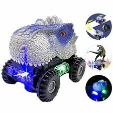 FUGZ Dinosaur Toy Car Light with Light and Sound Toys, Gifts for 3-6 Year Old Bo
