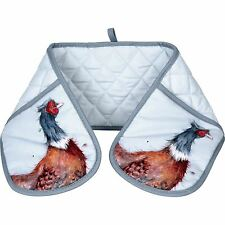 Wrendale pheasant double oven glove Pimpernel for Portmeirion