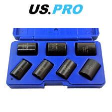 """US PRO 7pc 1/2"""" DR Locking Wheel Twist Sockets 2075"""