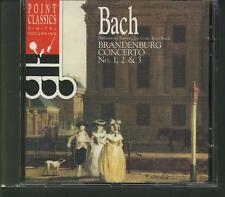 BACH Brandenburg Concerto No.1,2 & 3 1992 CD POINT CLASSICS KAREL BRAZDA
