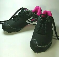 Girls Cleats Easton Size 6 Black Pink Gray