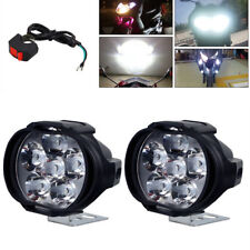Motorcycle ATV Headlight Mirror Mount Driving Fog Spot Light + Switch 2 x 6 LED
