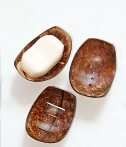 Coconut shell Soap tray Sri Lanka, Handmade Natural Wooden