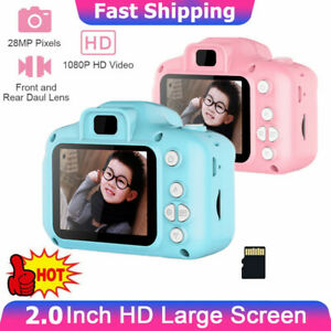 "Kids Camera Digital HD Camera Video Recorder 2"" Display +16GB SD Card For Girls"