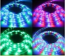 2M RGB 110V  120V 5050SMD Flexible Flat LED Strip Rope Light+US Plug + Remote