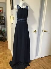 LIGHT IN THE BOX DARK NAVY LONG TAIL DRESS WITH OPEN BACK SIZE 6
