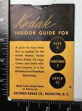 Vintage Kodak Indoor Guide for Plus X Panatomic X Super XX Film Guide Wheel