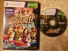 XBOX 360 Kinect Adventures Case and Insert in EX condition Disc is Good D