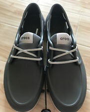 NWT Crocs Size Mens Sz 13 Gray Lace Boat Mens Water Shoes Style 206338