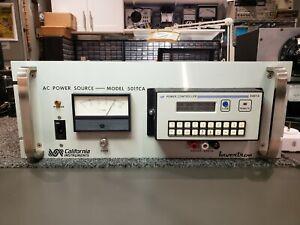 California Instruments 501TCA w/ 849TA Variable AC power source