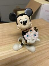 Lenox Mickey's Flowers For You Figurine December Birthstone New