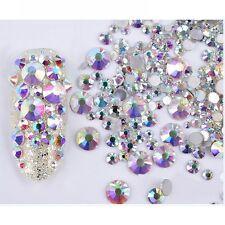 300Pcs Nail Chameleon Rhinestones Opal  Flatback Multi-size 3D Decoration
