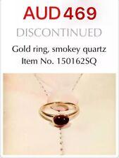 Genuine Pandora 14ct Gold Smokey Quartz Ring, 150162SQ, Size56.