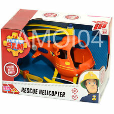 Fireman Sam Rescue Helicopter Vehicle Spin the Rotor Blades, Sling New