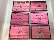 Lot of 6 Packages of Barrel Springs for Watches ART. Swiss Made.