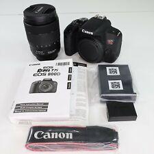 Canon EOS 800D/Rebel T7i Digital SLR with 18-135 1:3.5-5.6 is USM Lens Black