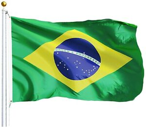 Brazilian Flag Brazil National Banner Polyester 3x5 Foot Country Flags