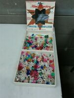 Lot of 371 Vintage Mid Centiry Christmas Light Tulip Flower & Star Reflectors (d