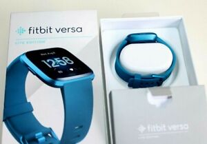 Fitbit Versa Lite Edition Smart Watch,  (S and L Bands Included) Marina blue